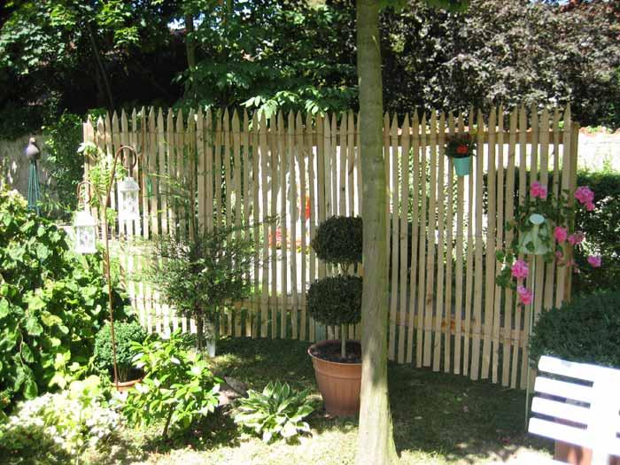 staketenzaun und kastanienzaun für den bauerngarten, Design ideen